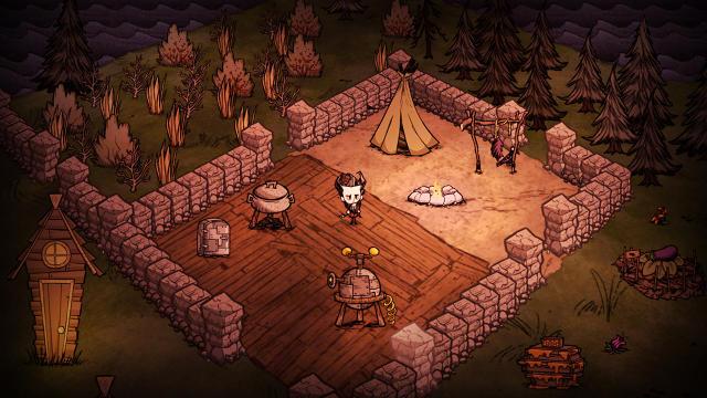 Лагерь в игре